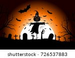 halloween party poster. holiday ... | Shutterstock .eps vector #726537883
