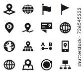 16 vector icon set   pointer ... | Shutterstock .eps vector #726545323