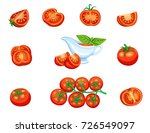 set red tomato on a branch and... | Shutterstock .eps vector #726549097