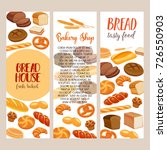 banner template food with bread ... | Shutterstock .eps vector #726550903