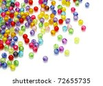 colorful beads isolated on... | Shutterstock . vector #72655735