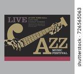 jazz poster template | Shutterstock .eps vector #726565063