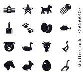 16 vector icon set   starfish ... | Shutterstock .eps vector #726566407