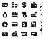 16 vector icon set   card  coin ... | Shutterstock .eps vector #726573703