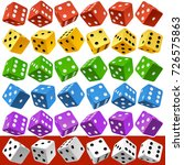 vector casino dice set of... | Shutterstock .eps vector #726575863