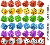 vector casino dice set of... | Shutterstock .eps vector #726575863