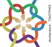 association several intertwined ...   Shutterstock .eps vector #726579403