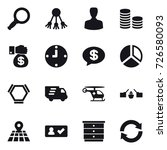 16 vector icon set   magnifier  ... | Shutterstock .eps vector #726580093
