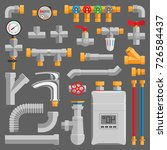 pipes vector icons isolated. | Shutterstock .eps vector #726584437
