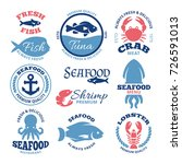 seafood nautical vector vintage ... | Shutterstock .eps vector #726591013