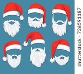 christmas santa claus red hats... | Shutterstock .eps vector #726591187