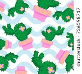 cactus seamless pattern  cactus ... | Shutterstock .eps vector #726598717
