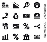 16 vector icon set   coin stack ... | Shutterstock .eps vector #726600103