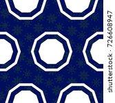 blue snowflakes. endless... | Shutterstock .eps vector #726608947