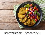 diet food  quinoa burgers with... | Shutterstock . vector #726609793