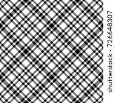 black and white tartan diagonal ... | Shutterstock .eps vector #726648307