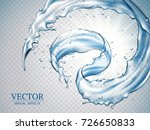 splashing water effects ... | Shutterstock .eps vector #726650833