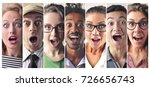 surprised people | Shutterstock . vector #726656743