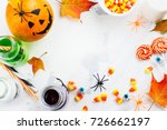 Halloween Background With...