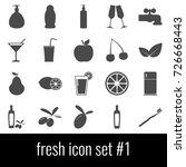 fresh. icon set 1. gray icon on ... | Shutterstock .eps vector #726668443