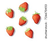 the berry lying on a white... | Shutterstock .eps vector #726670453