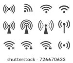 set of wireless wifi icons... | Shutterstock . vector #726670633