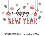 happy new year postcard... | Shutterstock . vector #726673957