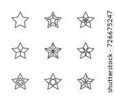 christmas star symbol outline... | Shutterstock .eps vector #726675247