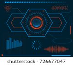 futuristic hud interface... | Shutterstock .eps vector #726677047