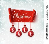 christmas sale banner with... | Shutterstock .eps vector #726680707