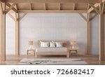 loft style bedroom 3d rendering ... | Shutterstock . vector #726682417