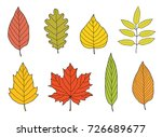 hand drawn colorful cartoon... | Shutterstock .eps vector #726689677