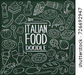 italian food doodle icon...   Shutterstock .eps vector #726692947