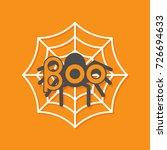 boo text. spider round web flat ... | Shutterstock .eps vector #726694633