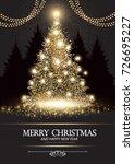 christmas tree. elegant card... | Shutterstock .eps vector #726695227
