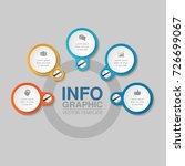 vector infographic template for ... | Shutterstock .eps vector #726699067