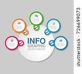 vector infographic template for ... | Shutterstock .eps vector #726699073
