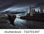View Of Dark Castle With Dark...