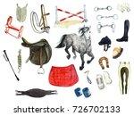 watercolor equestrian apparel