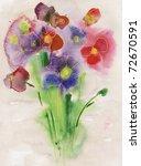 Painted Watercolor Bouquet