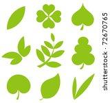 set od various tree leaves.... | Shutterstock .eps vector #72670765