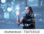 futuristic user interface... | Shutterstock . vector #726713113