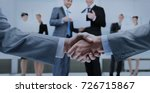 business handshake and business ... | Shutterstock . vector #726715867