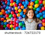girl playing and having a good... | Shutterstock . vector #726722173