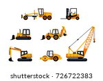construction vehicles   modern... | Shutterstock . vector #726722383