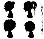 silhouette woman hairstyle... | Shutterstock .eps vector #726724327