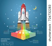 design rocket launch to the sky ...   Shutterstock .eps vector #726732283