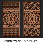 laser cutting set. wall or...   Shutterstock .eps vector #726743197