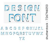 vector geometric font isolated. ... | Shutterstock .eps vector #726746053