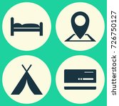 traveling icons set. collection ...   Shutterstock .eps vector #726750127